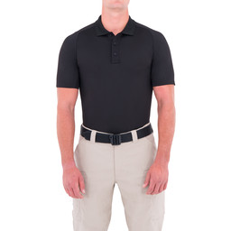 First Tactical M's Performance S/S Polo in Black
