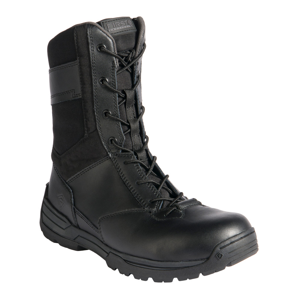 "M's 8"" Side Zip Duty Boot Black"