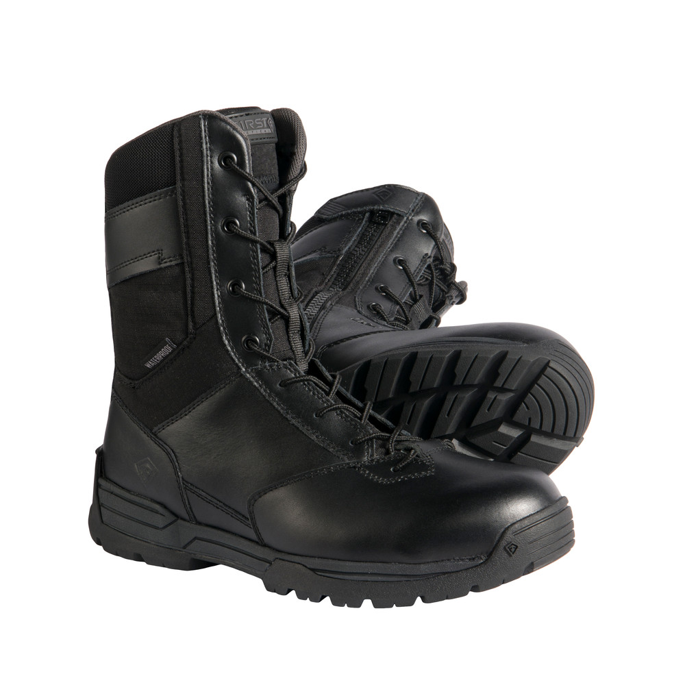 "M's 8"" WP Side Zip Duty Boot Black"