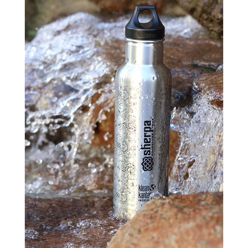 Sherpa Klean Kanteen Insulated Water Bottle - Silver