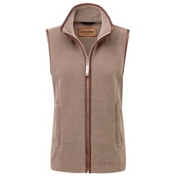 Schoffel Country Lyndon Fleece Gilet in Fawn