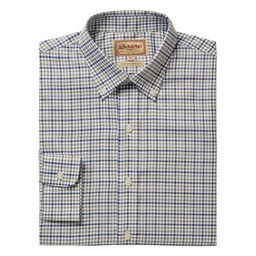 Schoffel Country Burnsall Shirt in Navy/Olive Micro