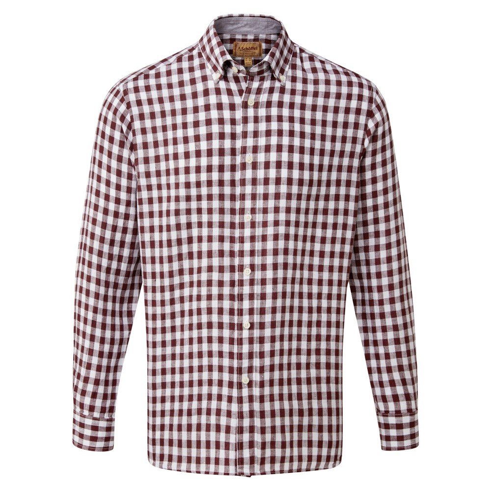 Sandbanks Linen Shirt Fig Check