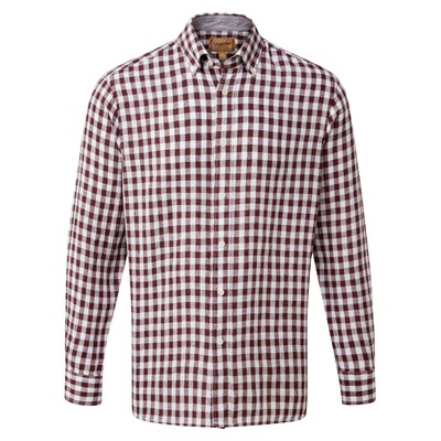 Schoffel Country Sandbanks Tailored Shirt in Fig Check