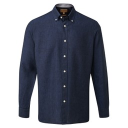 Schoffel Country Sandbanks Tailored Shirt in Navy