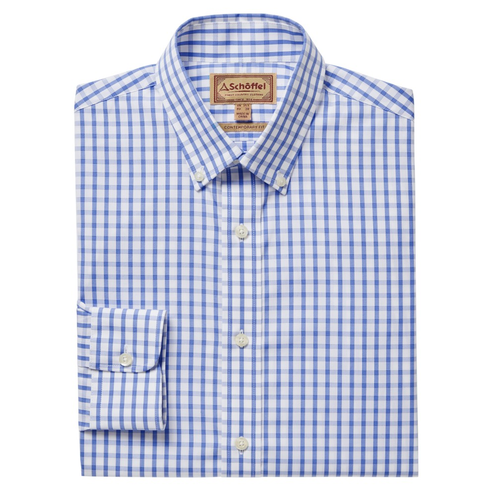 Harlyn Tailored Fit Shirt Blue/White
