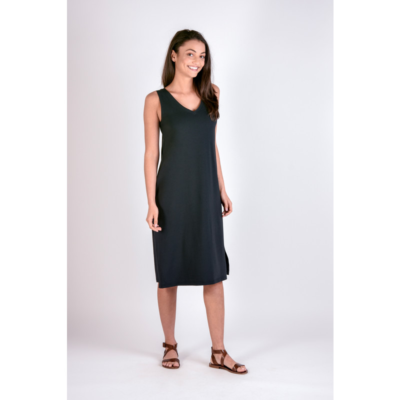 Padma Midi Dress - Black