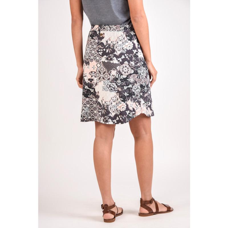 Padma Skirt - Black Tibetan Print