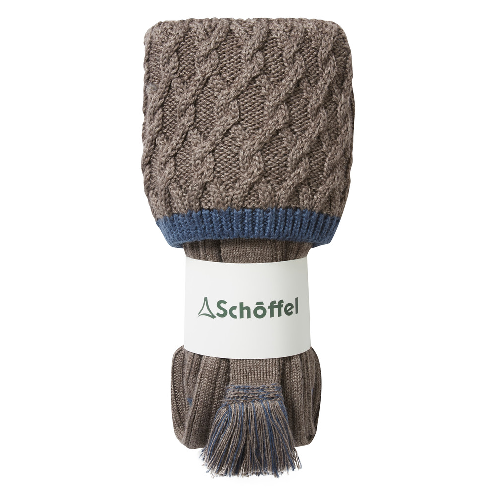 Lattice Sock Stone Blue
