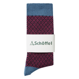 Schoffel Country Braemar Sock in Stone Blue