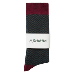 Schoffel Country Halkirk Sock in Claret