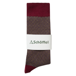 Schoffel Country Helmsdale Sock in Claret