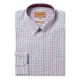 Schoffel Country Banbury Shirt in Pink/Olive Check