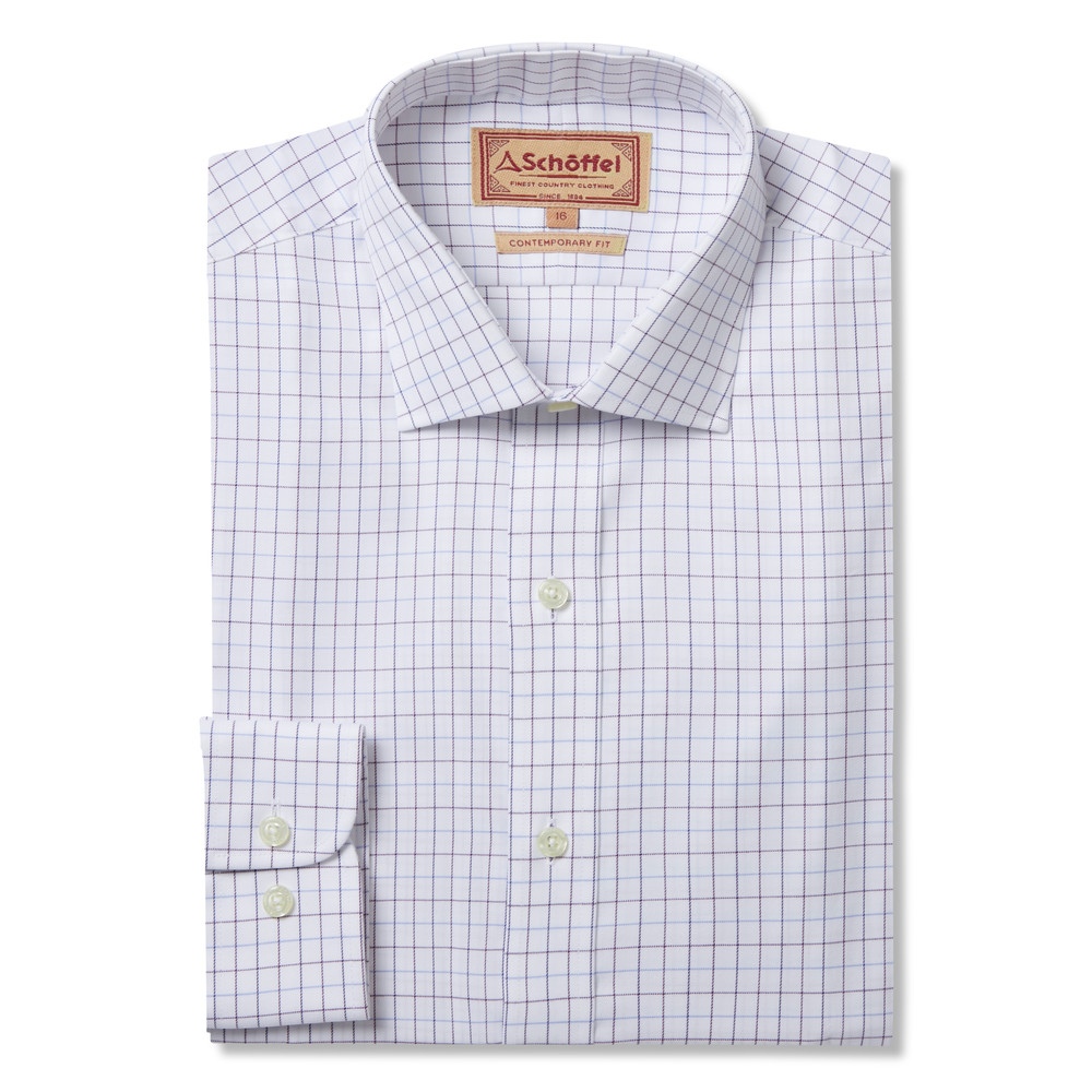 Buckden Shirt Purple/Fig/Blue Check