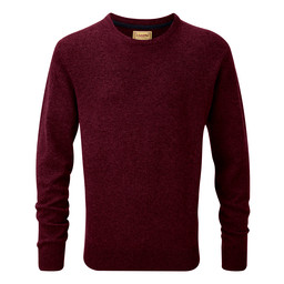 Schoffel Country Lambswool Crew Neck Jumper in Damson