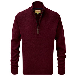 Schoffel Country Lambswool 1/4 Zip Jumper in Damson