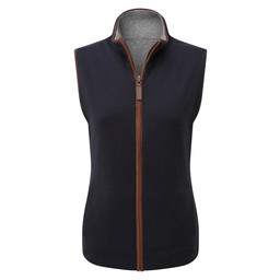 Ladies Reversible Merino/Cashmere Gilet