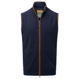 Schoffel Country Lambswool Aerobloc Gilet in Navy