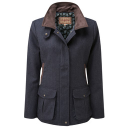 Schoffel Country Lilymere Jacket in Navy Herringbone Tweed