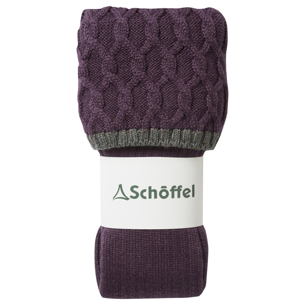 Ladies Lattice Sock Purple