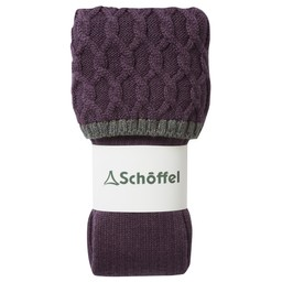 Schoffel Country Ladies Lattice Sock in Purple