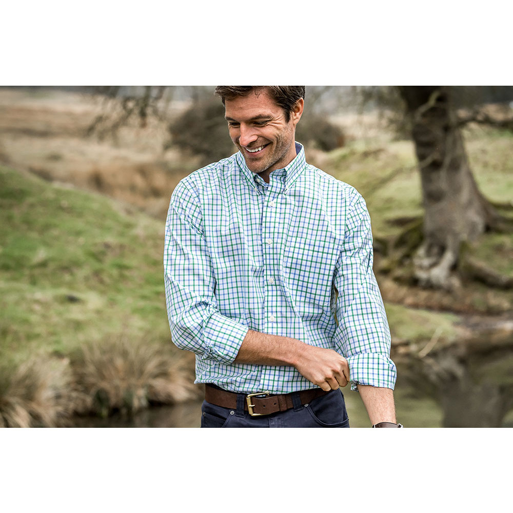 Holkham Shirt Green Check