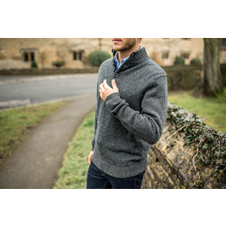 Lambswool Chunky Button Neck Jumper