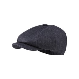 Schoffel Country Newsboy Cap in Navy Herringbone Tweed