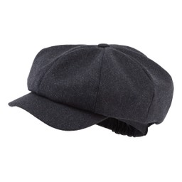 Schoffel Country Bakerboy Cap II in Navy Herringbone Tweed