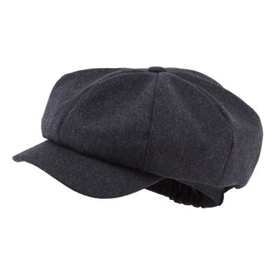 Bakerboy Cap II Navy Herringbone Tweed