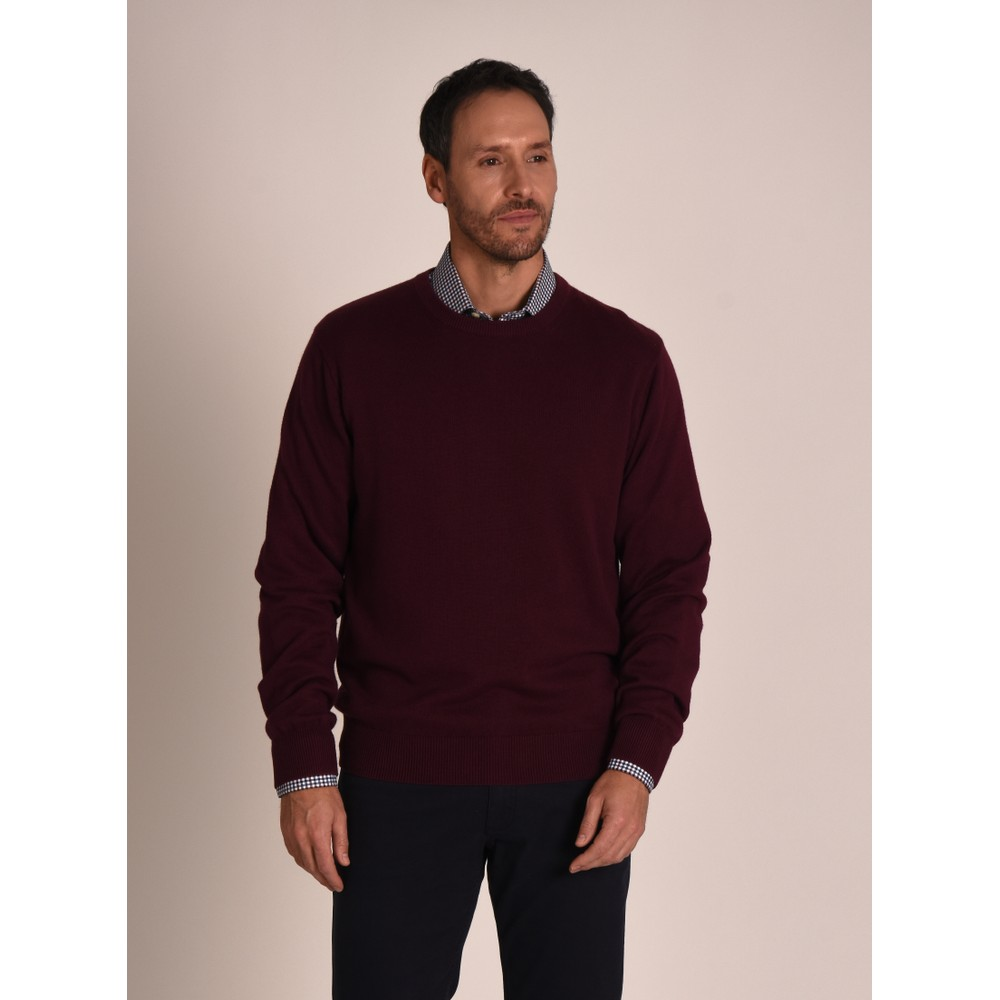 Cotton Cashmere Crew Jumper Fig
