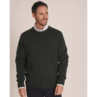 Lambswool Crew Neck Jumper Forest