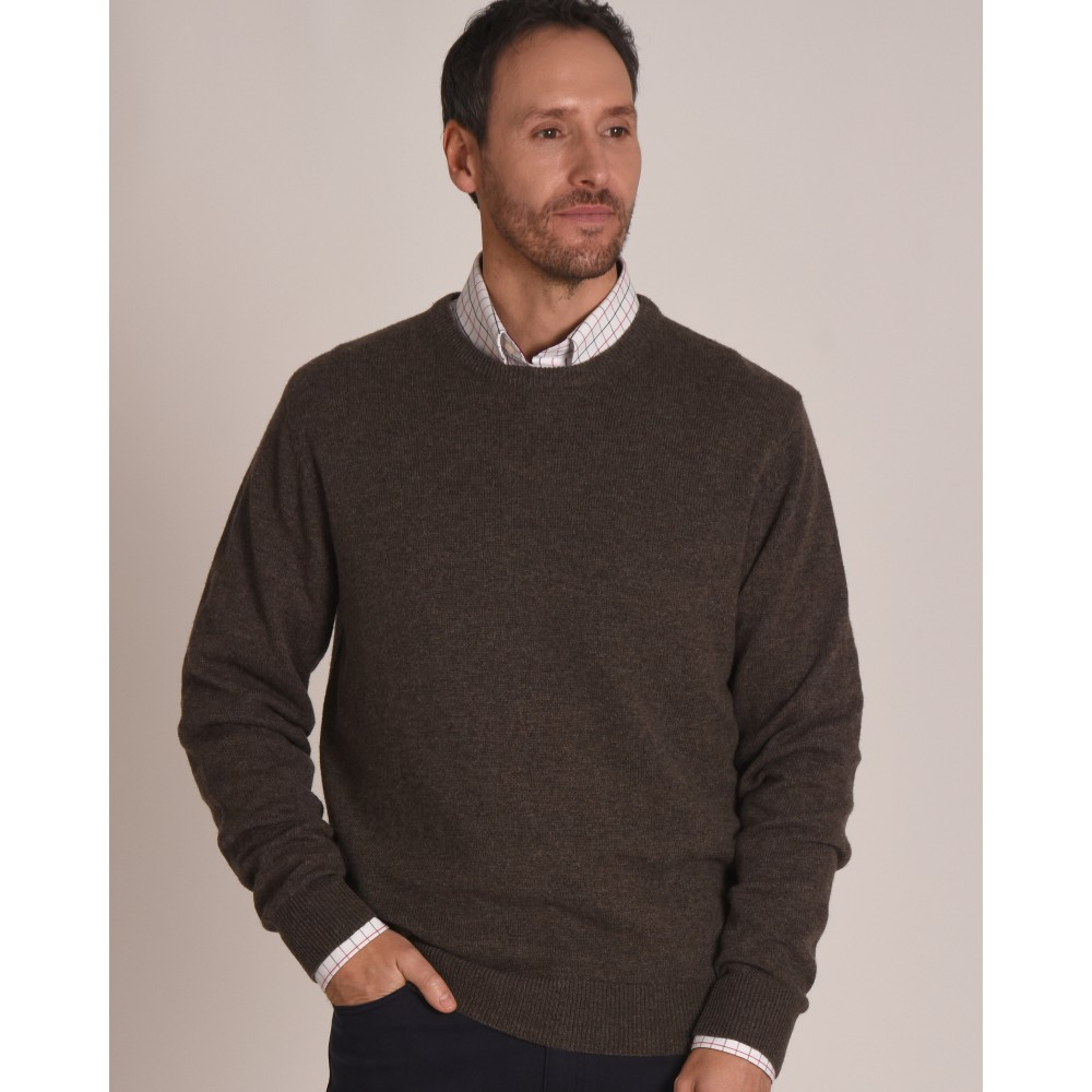 Lambswool Crew Neck Jumper Mole