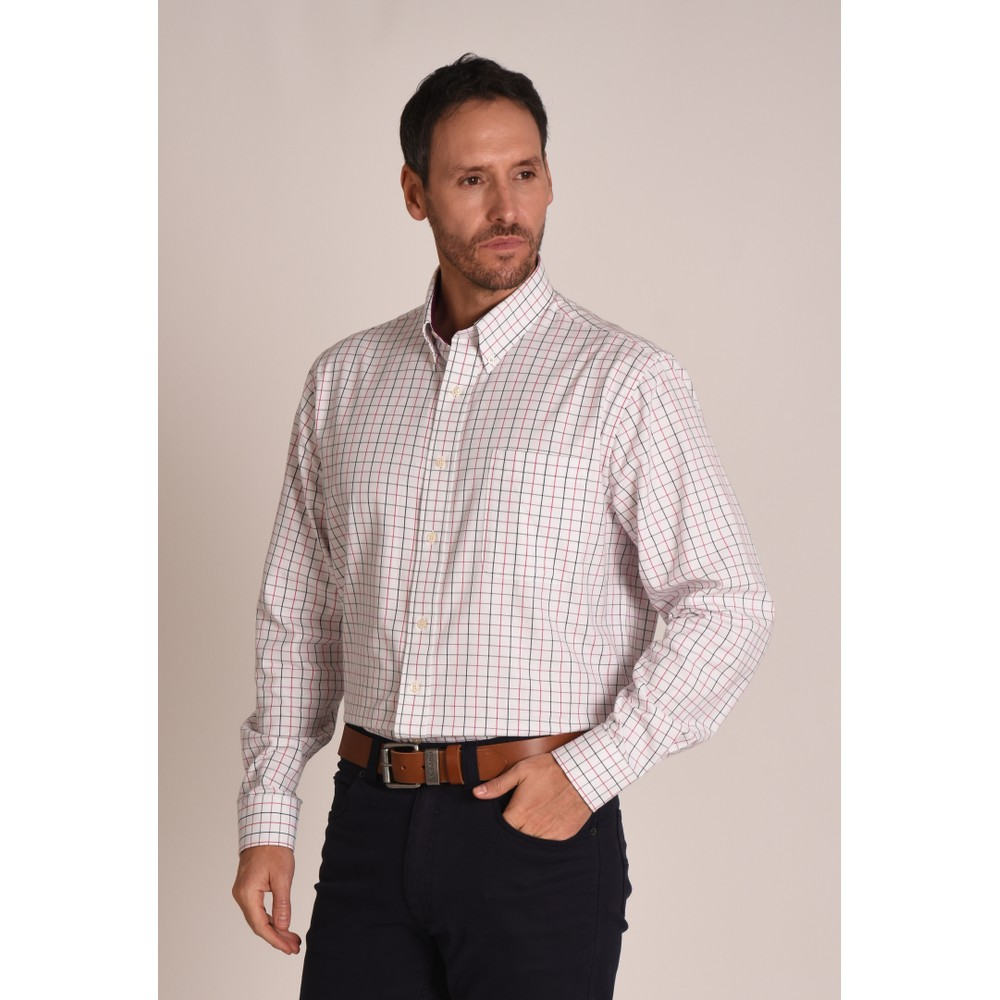 Banbury Shirt Pink/Grey Check