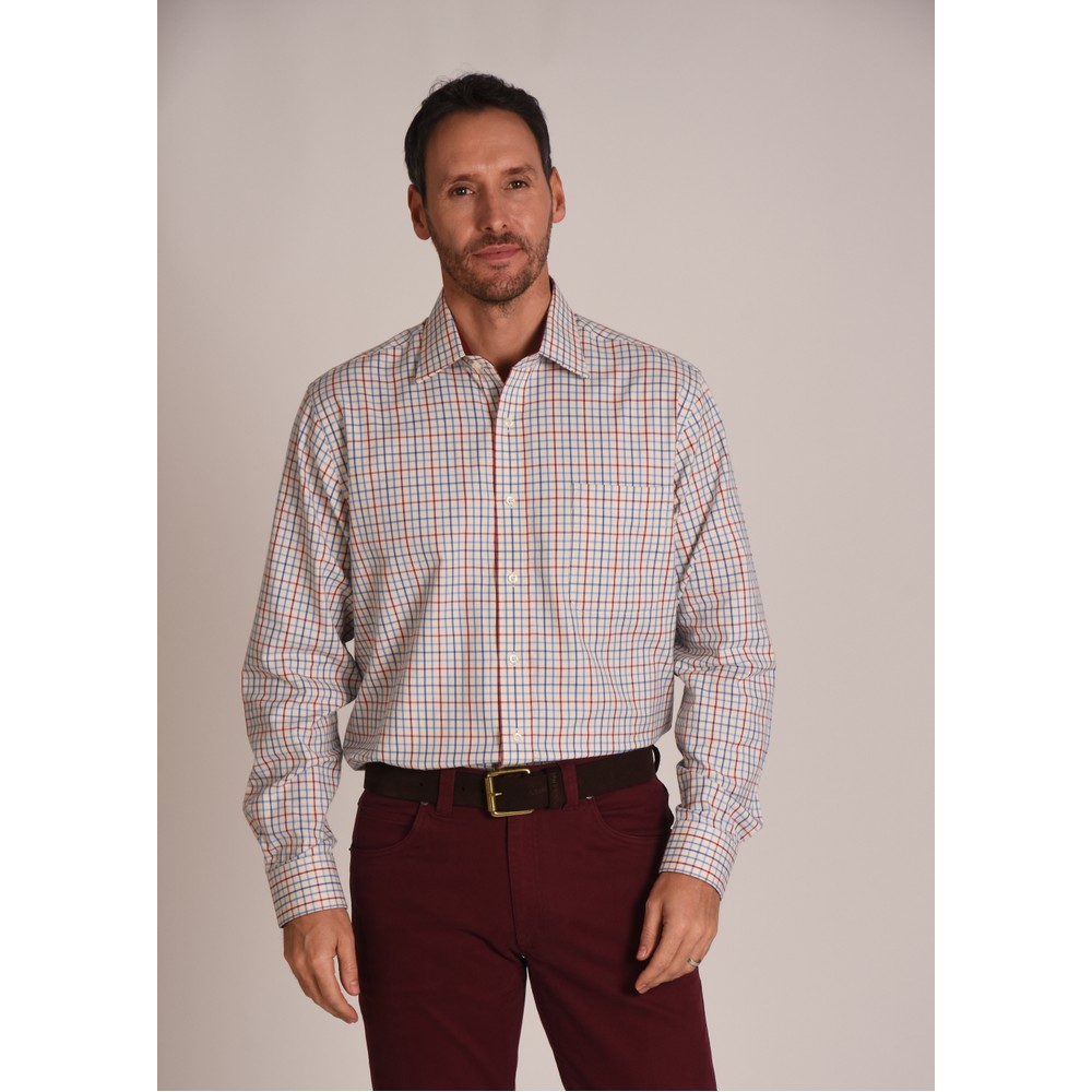 Banbury Classic Shirt Red/Denim Check