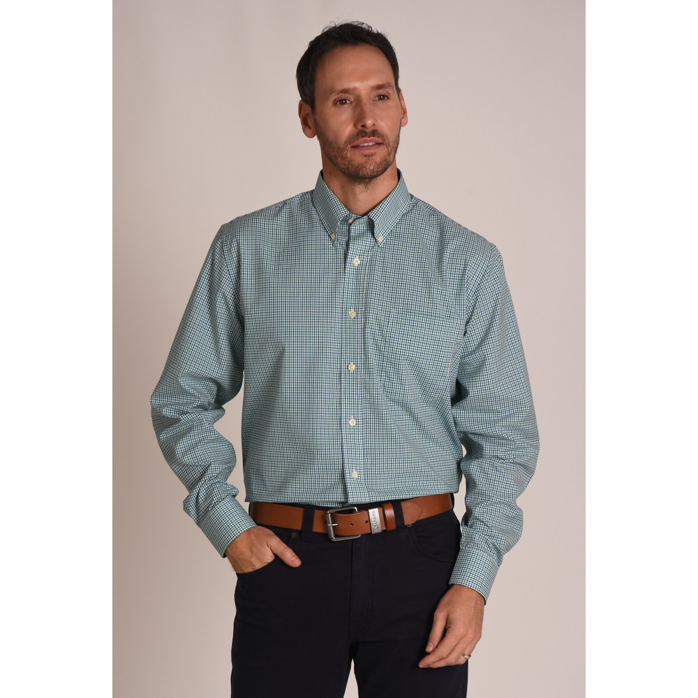 Holkham Shirt Green Check