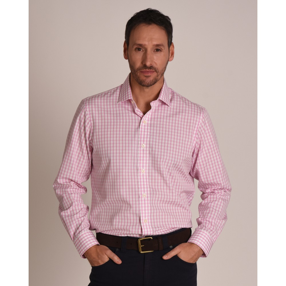 Harlyn Tailored Fit Shirt Pink/White
