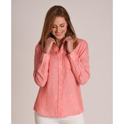 Saunton Linen Shirt Linen Lt Coral