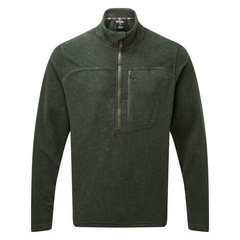 Sherpa Adventure Gear Rolpa Zip Tee in Mewa Green