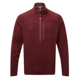 Sherpa Adventure Gear Rolpa Zip Tee in Potala Red