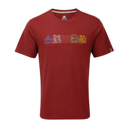 Sherpa Adventure Gear Lungta Tee in Potala Red