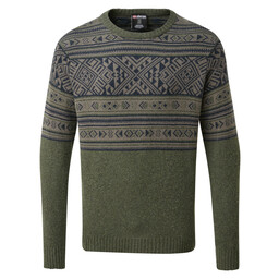 Sherpa Adventure Gear Nathula Crew Sweater in Mewa Green