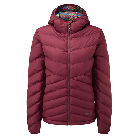 Sherpa Adventure Gear Annapurna Hooded Jacket in Shaadi Red