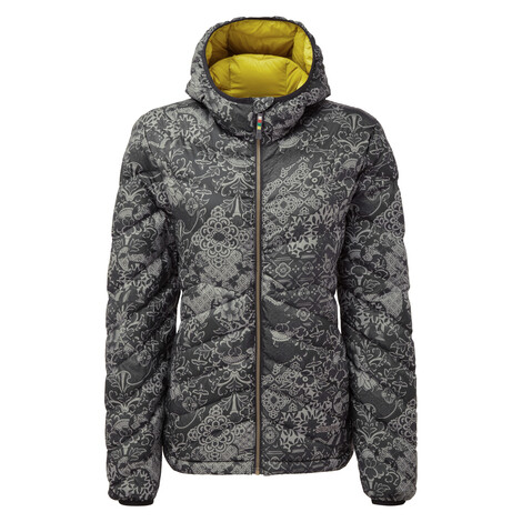 Sherpa Adventure Gear Annapurna Hooded Jacket in Black Print