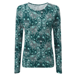 Mala L/S Top Rathna Green