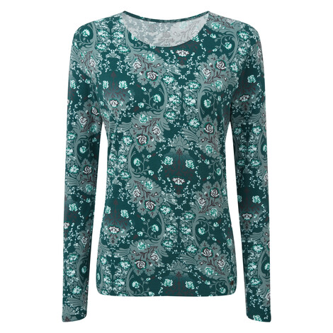 Mala Long Sleeve Top Rathna Green
