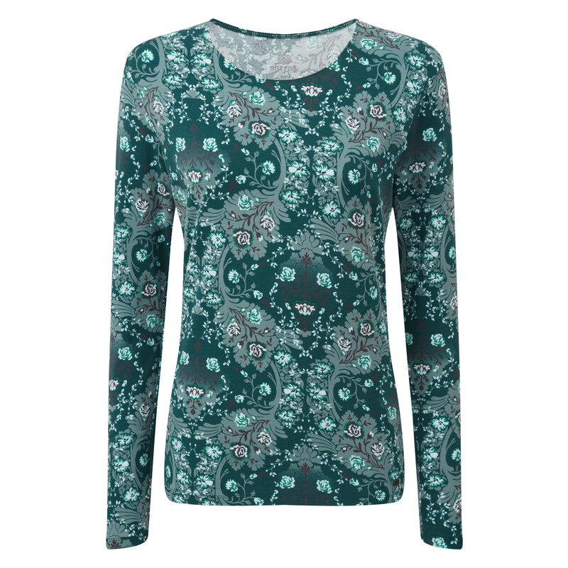Mala L/S Top - Rathna Green