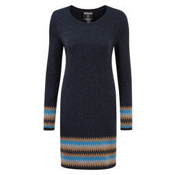 Sherpa Adventure Gear Maya Jacquard Dress in Rathee Blue
