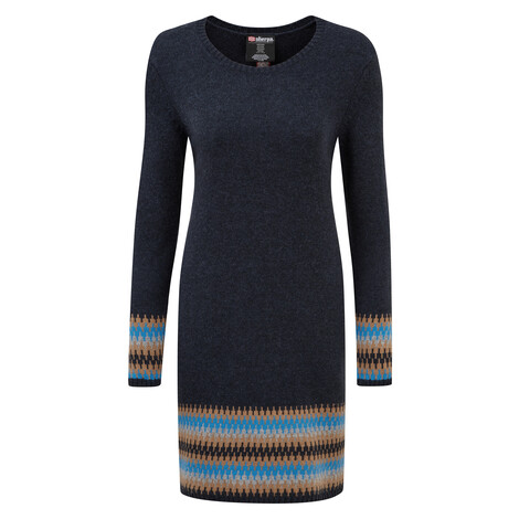 Maya Jacquard Dress Rathee Blue