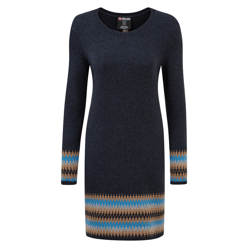 Maya Jacquard Dress - Rathee Blue